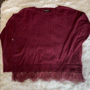Banana Republic burgundy sweater.